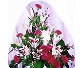 Lilies and carnations w/ Angel in Sioux Falls SD, Country Garden Flower-N-Gift