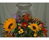 Fall centerpiece of sunflowers in Tuckahoe NJ, Enchanting Florist & Gift Shop