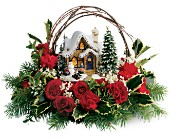 Thomas Kinkade's Cozy Christmas in San Diego CA, Eden Flowers & Gifts Inc.