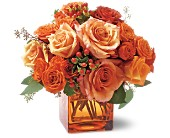 Teleflora's Orange Rose Mosaic in Bossier City LA, Lisa's Flowers & Gifts