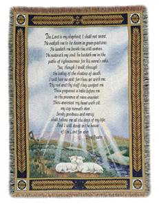 23RD PSALM TAPESTRY THROW in Ambridge PA, Heritage Floral Shoppe