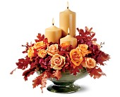 Candles of Autumn in San Clemente CA, Beach City Florist