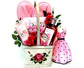 GB178 ''Pampered Rose Garden'' Gift Basket in Oklahoma City OK, Array of Flowers & Gifts