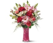 Teleflora's Pink Art Glass Bouquet in Murrieta CA, Michael's Flower Girl