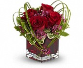Teleflora's Sweet Thoughts Bouquet with Red Roses in Vancouver BC, Gardenia Florist