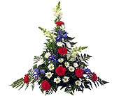 Red, White & Blue Sympathy Fresh Arrangement in Wyoming MI, Wyoming Stuyvesant Floral