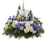 Thomas Kinkade's Chapel by Teleflora - Blue in El Paso TX, Blossom Shop