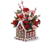 Teleflora's Gingerbread House Bouquet in El Paso TX, Blossom Shop