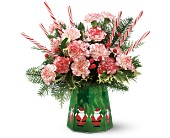 Teleflora's Sweet Santa Bouquet in Mobile AL, Cleveland the Florist