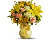 Teleflora's Sunny Smiles in Visalia CA, Flowers by Peter Perkens Flowers Inc.