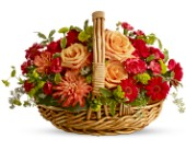 Spanish Garden Basket in New York NY, Fellan Florists Floral Galleria