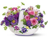 Teleflora's Sweet Pansy Basket Bouquet in San Juan PR, De Flor's Flowers & Gifts