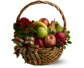 Holiday Fruit Basket in Manalapan NJ, Rosie Posies