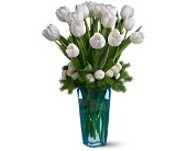 Winter White Tulips in San Clemente CA, Beach City Florist