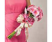 Pink Gerbera Daisy and Nerine Lily Bouquet in Abington MA, The Hutcheon's Flower Co, Inc.