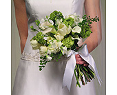 White Tulip and Calla Lily Bouquet in Abington MA, The Hutcheon's Flower Co, Inc.