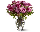 A Dozen Lavender Roses in New Iberia, Louisiana, Breaux's Flowers & Video Productions, Inc.