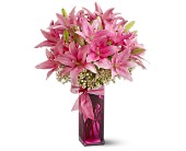 Teleflora's Pretty Pink Lilies in Oklahoma City OK, Array of Flowers & Gifts