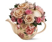 Teleflora's Victorian Teapot Bouquet in New Britain CT, Weber's Nursery & Florist, Inc.