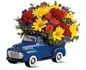 Teleflora's '48 Ford Pickup Bouquet in Rush NY, Chase's Greenhouse