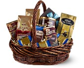 Chocolate & Coffee Basket in Manalapan NJ, Rosie Posies