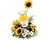 Teleflora's Bee Well Bouquet in San Jose CA, Rosies & Posies Downtown
