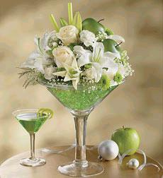 Apple Martini Bouquet in Burlington NJ, Stein Your Florist
