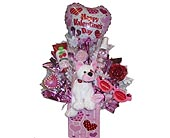 VGB64 ''Ceramic Hearts'' (Gift Bouquet) in Oklahoma City OK, Array of Flowers & Gifts