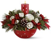Holiday Star Bowl Bouquet by Teleflora in San Clemente CA, Beach City Florist