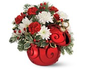 Teleflora's Ruby Swirl Ornament Bouquet in Pell City AL, Pell City Flower & Gift Shop