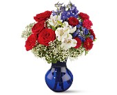 Red White and True Bouquet in Haddon Heights NJ, April Robin Florist & Gift