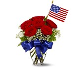 Star Spangled Roses Bouquet in Oshkosh WI, Flowers & Leaves LLC