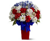 Patriotic Petals Bouquet in Houston TX, Colony Florist