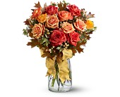 Graceful Autumn Roses in Bellevue WA, Bellevue Crossroads Florist