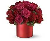 Teleflora's Say it in Scarlet Bouquet in Hoboken NJ, All Occasions Flowers