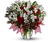 First Snowfall Deluxe in Dallas TX, Petals & Stems Florist