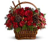 Holiday Spice Basket in Dallas TX, Petals & Stems Florist