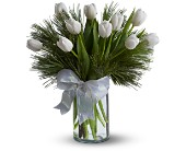 Tulips and Pine in Dallas TX, Petals & Stems Florist