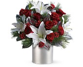Teleflora's Lilies and Roses in Dubuque IA, New White Florist