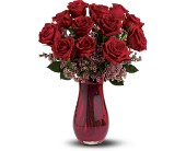 Teleflora's Red Rose Dozen Bouquet in San Clemente CA, Beach City Florist