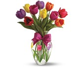 Teleflora's Spring Tulips Bouquet in San Clemente CA, Beach City Florist
