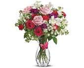 Pink Butterfly Bouquet by Teleflora in New Britain CT, Weber's Nursery & Florist, Inc.