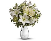 Teleflora's Silver Reflections Bouquet in Burnaby BC, GardenWorks at Mandeville