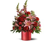 Teleflora's Red Romance Bouquet in Moose Jaw, Saskatchewan, Evans Florist Ltd.