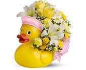 Teleflora's Just Ducky Bouquet - GIRL - Deluxe in Orlando FL, Elite Floral & Gift Shoppe