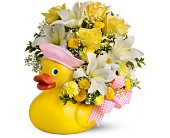 Teleflora's Just Ducky Bouquet - Girl - Premium in Orlando FL, Elite Floral & Gift Shoppe
