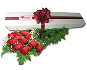 12 Red Roses Boxed in Ossining NY, Rubrums Florist Ltd.