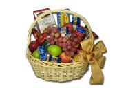 LARGE FRUIT & GOURMET BASKET by Rubrums in Ossining NY, Rubrums Florist Ltd.