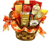 GF112 ''Snack Time'' Gourmet Food Basket in Oklahoma City OK, Array of Flowers & Gifts