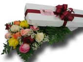 12 ASST ROSES BOXED in Ossining NY, Rubrums Florist Ltd.